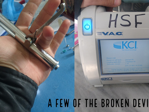 Repairing items in Hospitals in Syria