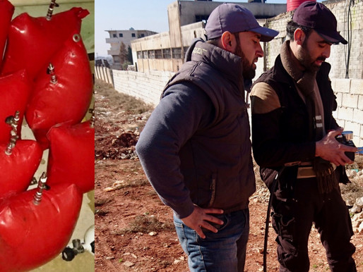 Saving a Family Using Locally Made Airbags in War-Ravaged Idlib