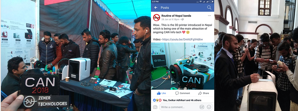 Putting in the hard hours and spreading the word about the 3D printing sector in Nepal, one conversation at a time (check out the number of reactions).