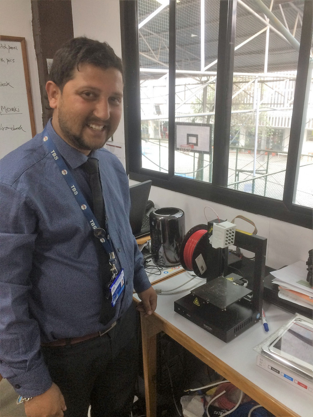 A growing sector: Rohit Sigdel, IT Manager at the prestigious British School, is facilitating the inclusion of 3D printing into the school's IT and design curriculums.