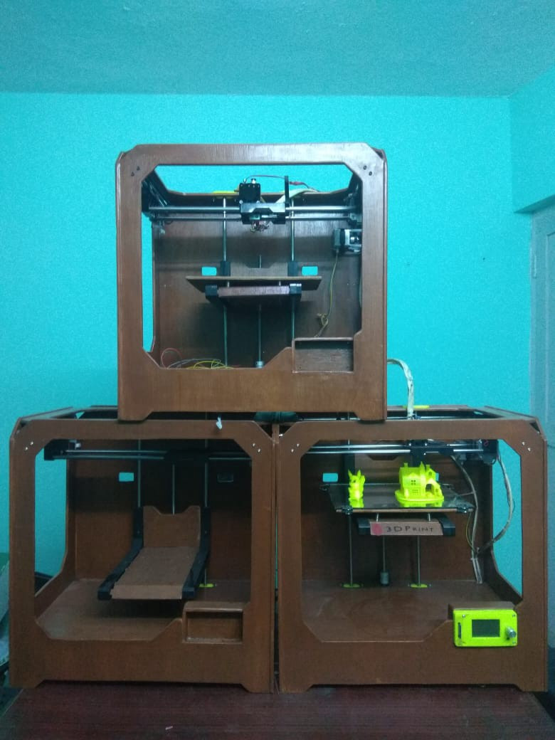 Nepal's first 3D printers, made by Zener Technologies.