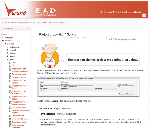 E-Learning - Primavera P6 R18 - Basic - (1 USER) (1 MONTH)