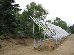 An early stage of assembling solar
