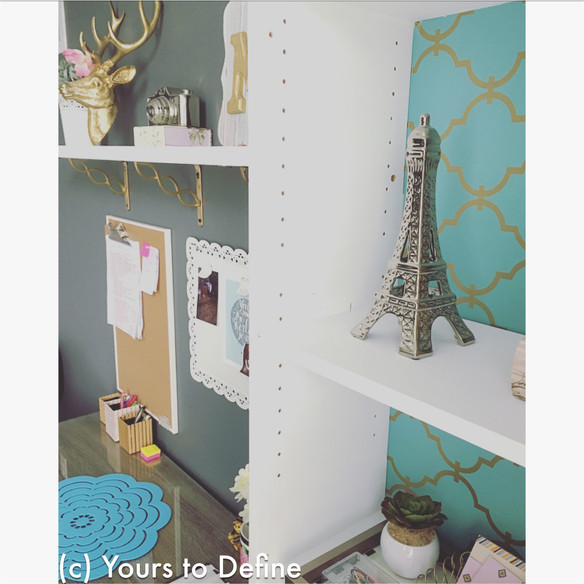 DIY Office Decor & Shelves