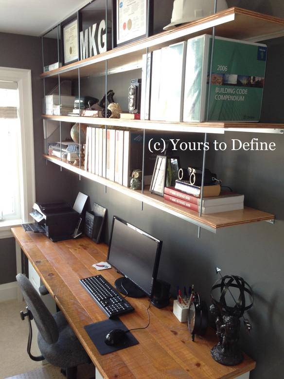 Office Decor: How to style custom Shelving & Desk