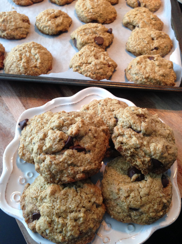 Healthy Oatmeal Dark Chocolate Cookies