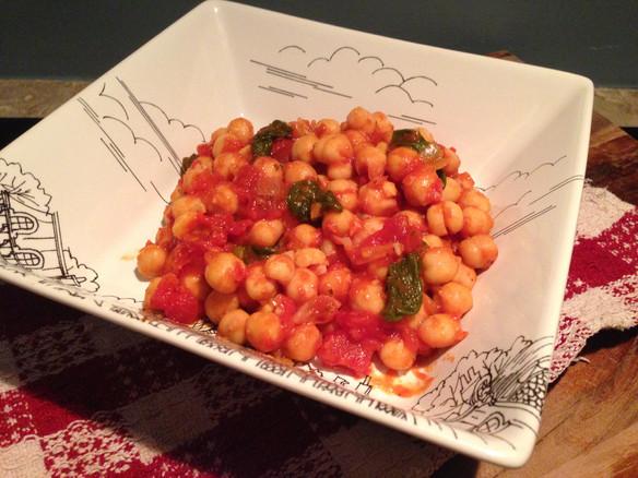 Chickpea, Tomato & Spinach Simmer