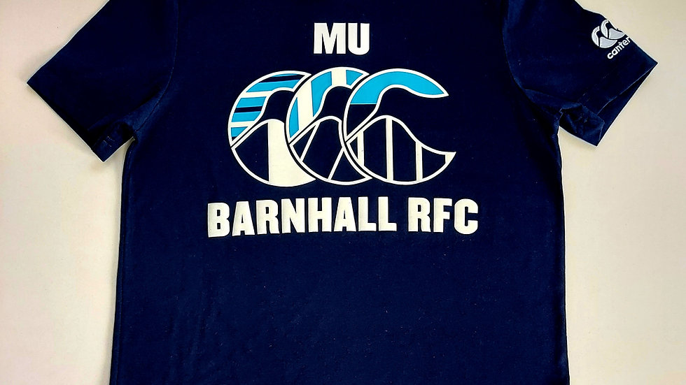 MU BARNHALL Cotton T-Shirt Navy Adult