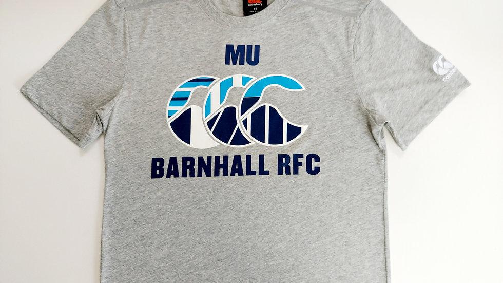 MU BARNHALL Cotton T-Shirt Grey Kids Age 12
