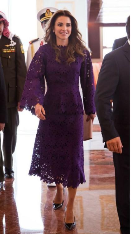 Queen Rania in Bambah