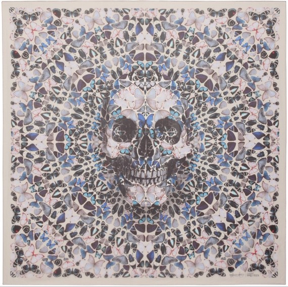 scarf collection by Damien Hirst for Alexander McQueen