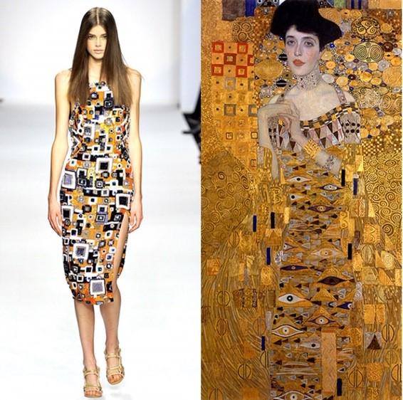 Alexander McQueen Gustav Klimt collection