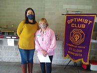 Ginny Bisek received the Optimist of the
