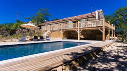 Converted barn with 11x5m pool