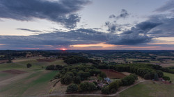 Sunset from Espinas France