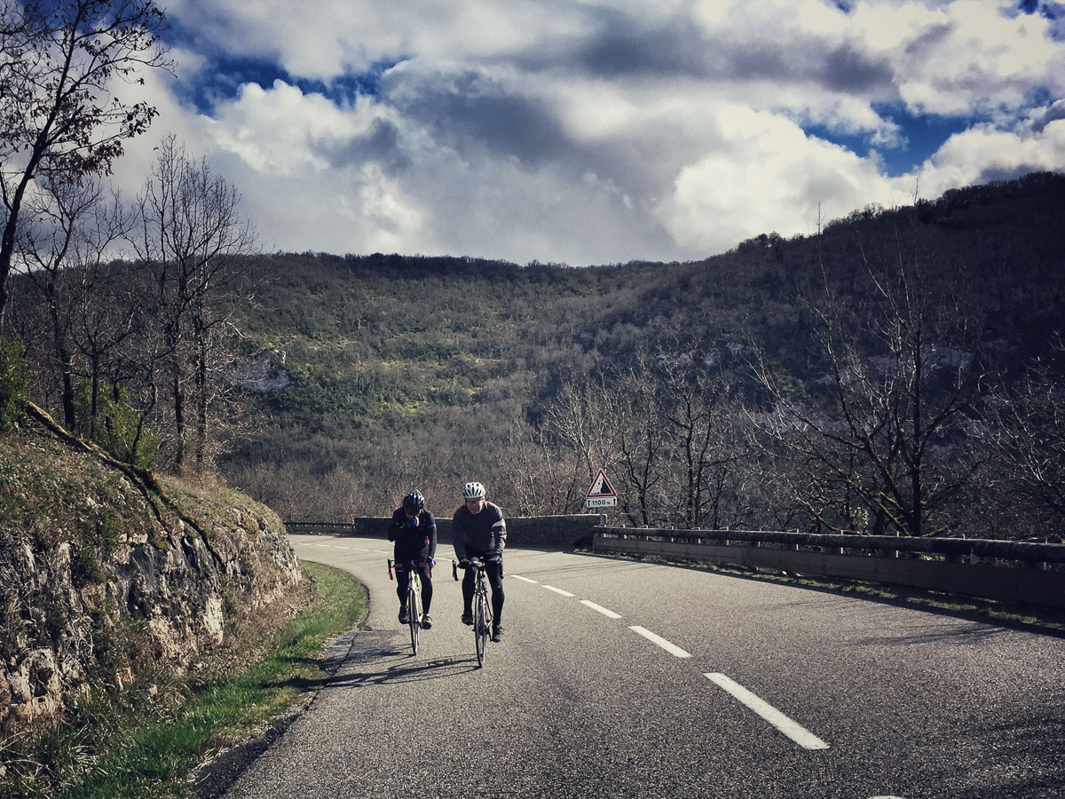 Road Cycling in Aveyron Gorge
