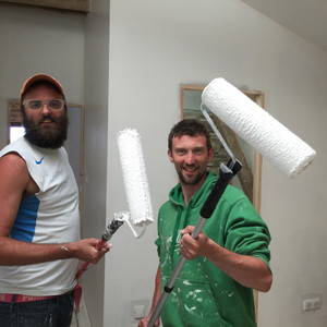 Marcus and Jim Painting