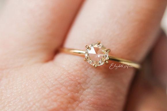 Iris Round Rose Cut Engagement Ring