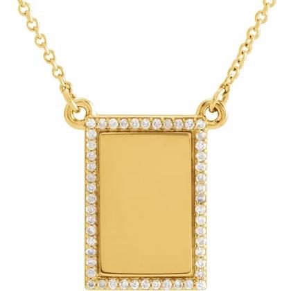 Cara Diamond Initial Necklace