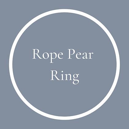 Pear Plain Ring