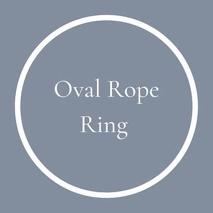 Single Oval Rope Ring