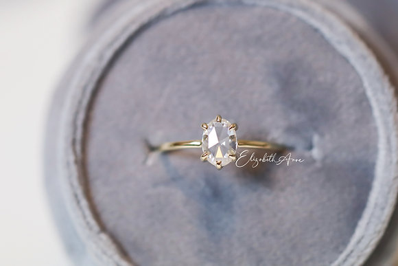 Zosiá Oval Rose Cut Engagement Ring