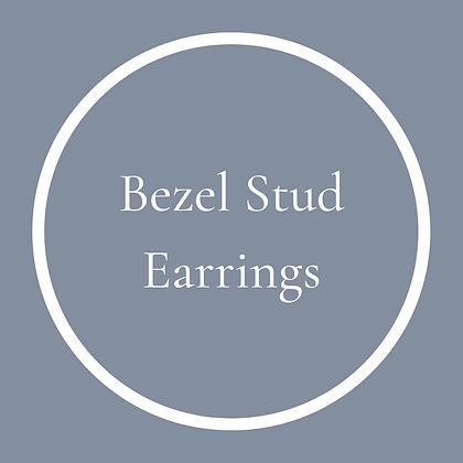 Round Bezel Studs