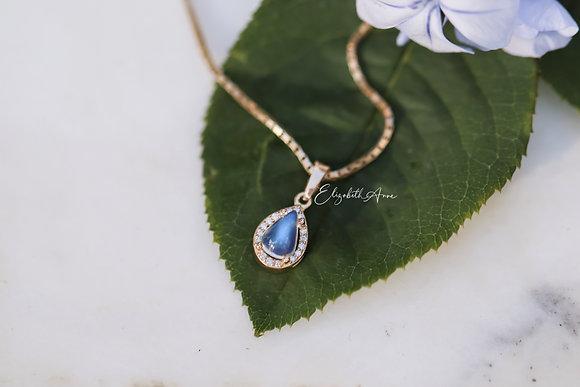 Odessa Moonstone and Diamond Pendant
