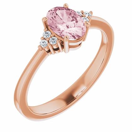 Cara Morganite & Diamond Ring