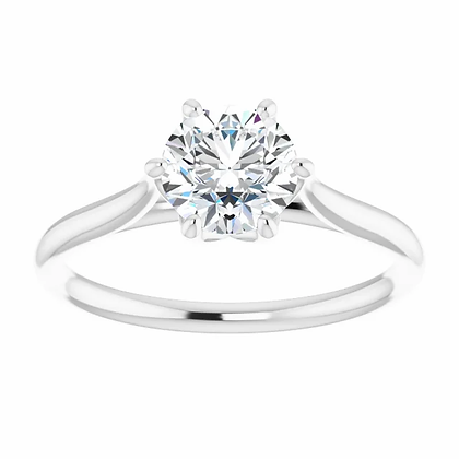 Brittany 6-Prong Solitaire