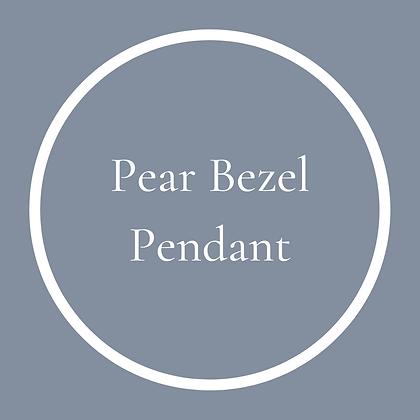 Pear Bezel Pendant