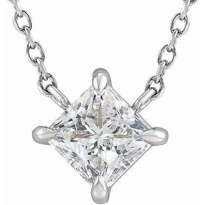Princess Solitaire Necklace