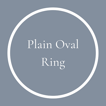 Single Oval Plain Ring