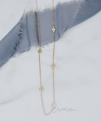 Elodie Diamond Station Necklace