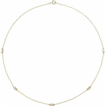 Phoebe Diamond Station Necklace