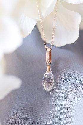 Constance Quartz & Diamond Briolette Pendant