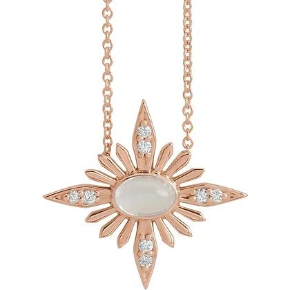 Angela Diamond and Moonstone Necklace