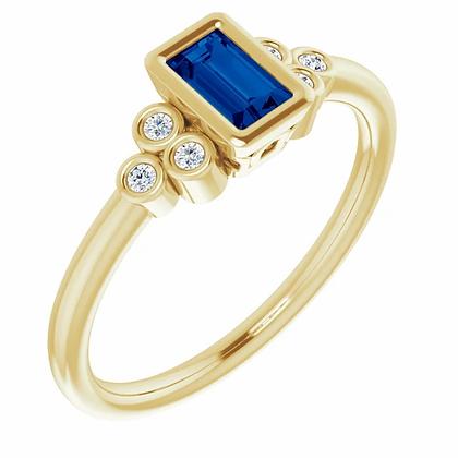 Nala Blue Sapphire Ring
