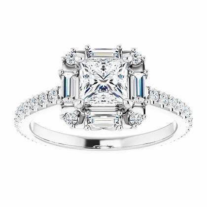 Cordelia Diamond Halo