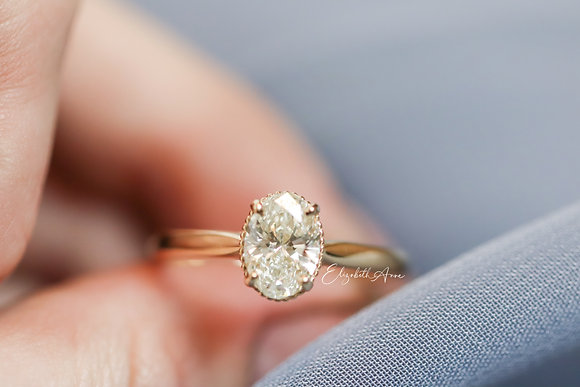 Danielle Oval Engagement Ring