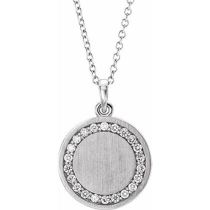 Brielle Diamond Initial Necklace