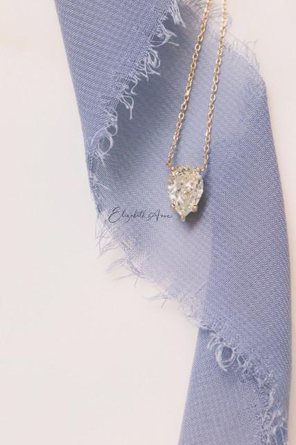 2.5 ct. Pear Diamond Necklace
