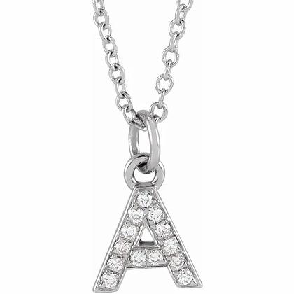 Petite Diamond Initial Necklace