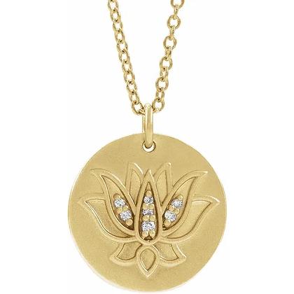 Lila Diamond Amulet