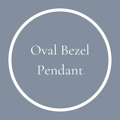 Oval Bezel Pendant