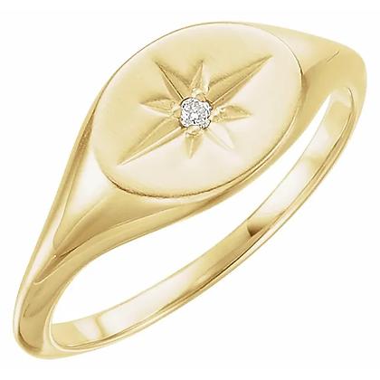 Starburst Signet Ring