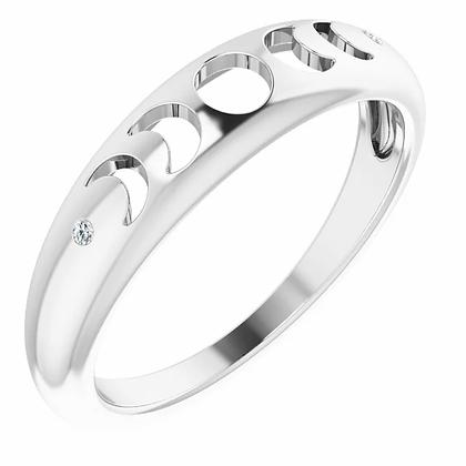 Moon Phases Diamond Ring
