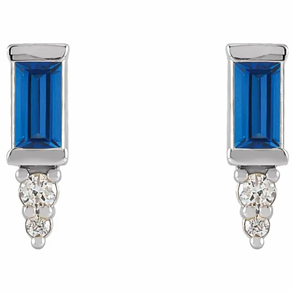 Allegra Sapphire or Ruby Studs