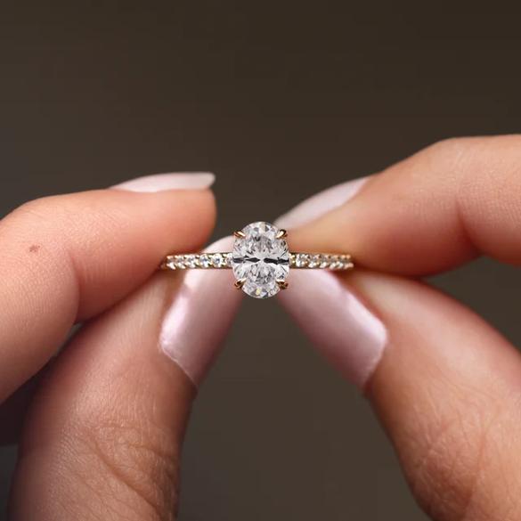 Juliette Hidden Halo Engagement Ring