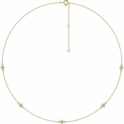 Anita Diamond Station Necklace